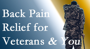 Vancouver Disc Centers cares for veterans with back pain and PTSD and stress.