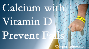 Calcium and vitamin D supplementation may be recommended to Vancouver chiropractic patients who are at risk of falling.