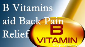 Vancouver Disc Centers may include B vitamins in the Vancouver chiropractic treatment plan of back pain sufferers.