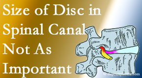Vancouver Disc Centers reports on new research that again states that the size of a disc herniation doesn't matter that much.