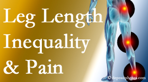 Vancouver Disc Centers checks for leg length inequality as it is related to back, hip and knee pain issues.