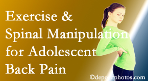 Vancouver Disc Centers uses Vancouver chiropractic and exercise to help back pain in adolescents.