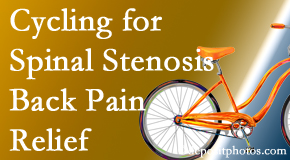 Vancouver Disc Centers encourages exercise like cycling for back pain relief from lumbar spine stenosis.