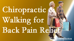 Vancouver Disc Centers encourages walking for back pain relief in combination with chiropractic treatment to maximize distance walked.