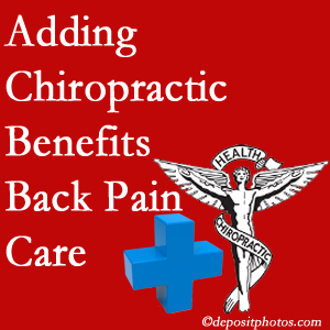 Added Vancouver chiropractic to back pain care plans helps back pain sufferers.
