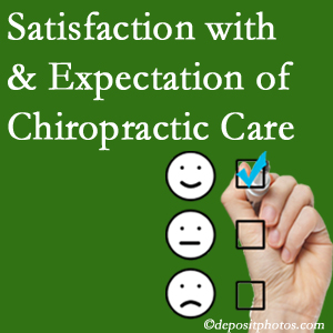 Vancouver chiropractic care provides patient satisfaction and meets patient expectations of pain relief.
