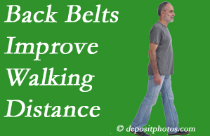 Vancouver Disc Centers sees benefit in recommending back belts to back pain sufferers.