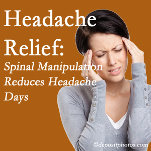 Vancouver chiropractic care at Vancouver Disc Centers may reduce headache days each month.